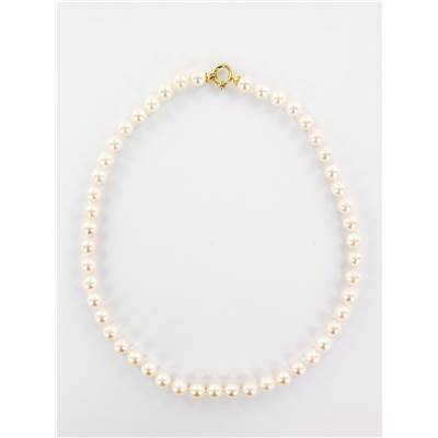 COLLIER OR JAUNE 750/00 PERLE DE CULTURE AKOYA JAPON