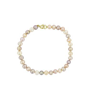BRACELET OR JAUNE 750/00 PERLE DE CULTURE EAU DOUCE CHINE 4,5/5MM