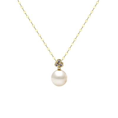 COLLIER OR JAUNE 750/00 PERLE DE CULTURE EAU DOUCE CHINE 8/8,5MM