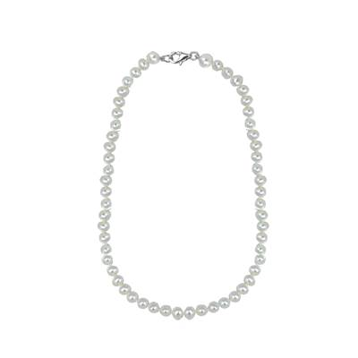 COLLIER ARGENT 925/00 PERLE DE CULTURE EAU DOUCE CHINE 5/5,5MM
