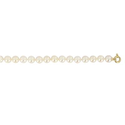 COLLIER OR JAUNE 750/00 PERLE DE CULTURE AKOYA JAPON 6/6,5MM