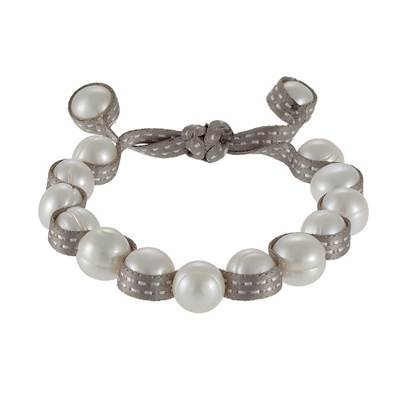 BRACELET   PERLE DE CULTURE EAU DOUCE CHINE 10,5/11MM